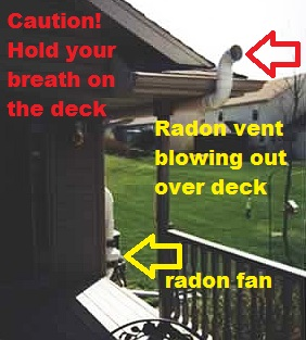 Dangerous radon system installation