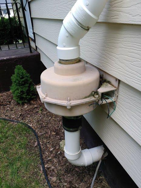 Replacing an old radon fan